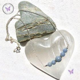Angelite Bar Necklace